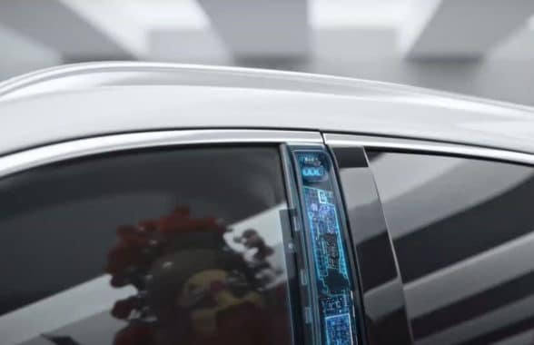 General Motors face biometrics in door frame for car access