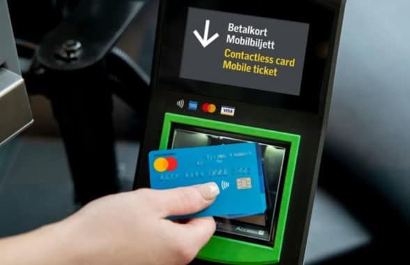 Contactless ticketing payment on Stockholm SL transit system