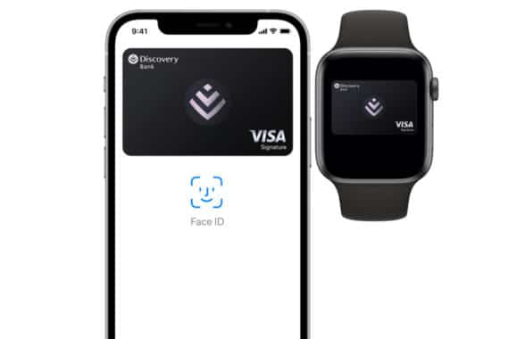 Apple Pay on smartphone and watch for Discovery Bank Visa South Africa