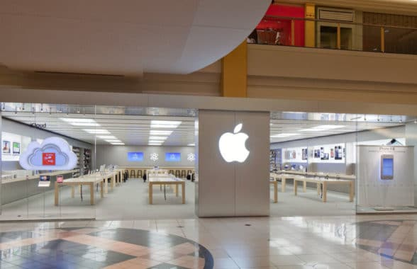 Apple Store front in Troy USA