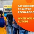 Delhi Metro AutoPe top up at gates promo graphic