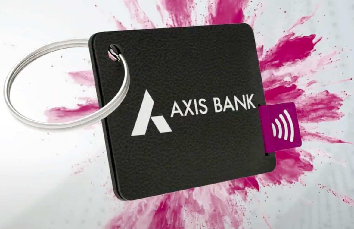 Axis Bank contactless wearable payments keyring
