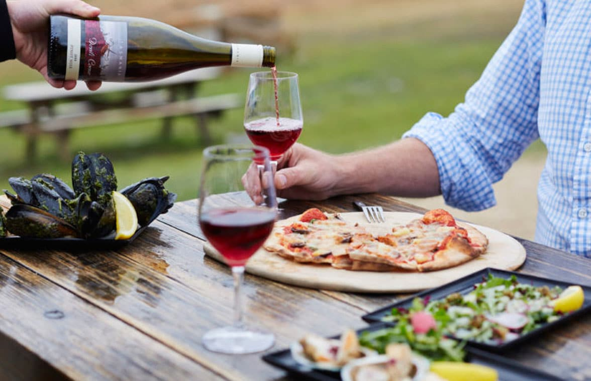Australian vineyard wine bottle with  NFC tag for brand promotion