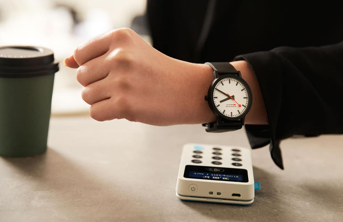 Fidesmo Pay wearable being used to make payment