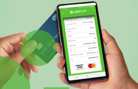 OTP Bank OTP POSibil merchant contactless terminal on a smartphone