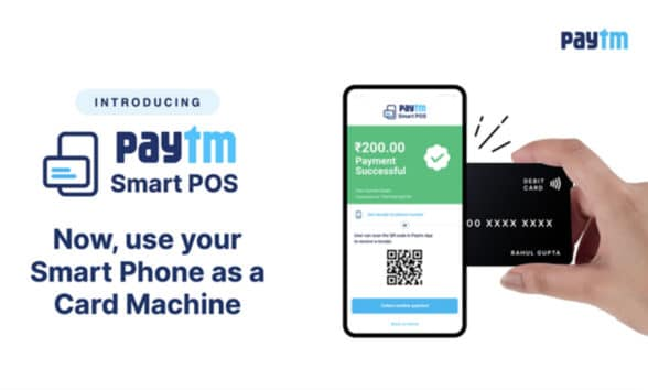 Paytm contactless NFC smart POS for Indian merchantsts on NFC phones