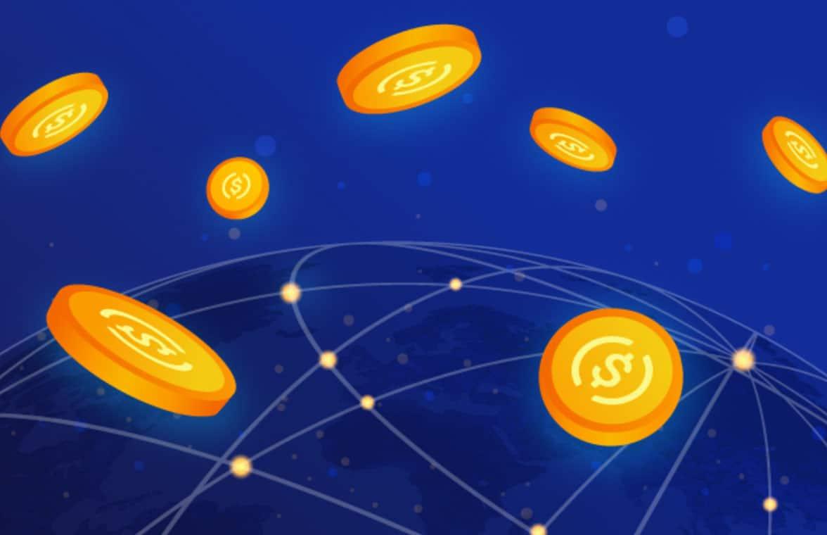Visa USDC digital currency illustration