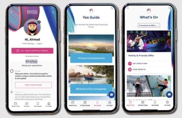 Abu Dhabi theme park app with face recognition