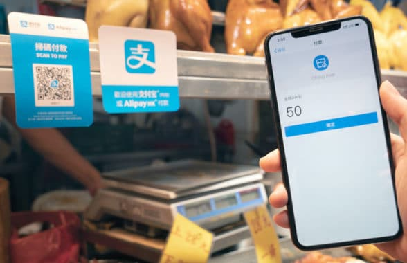 AlipayHK digital wallet being used to make payment