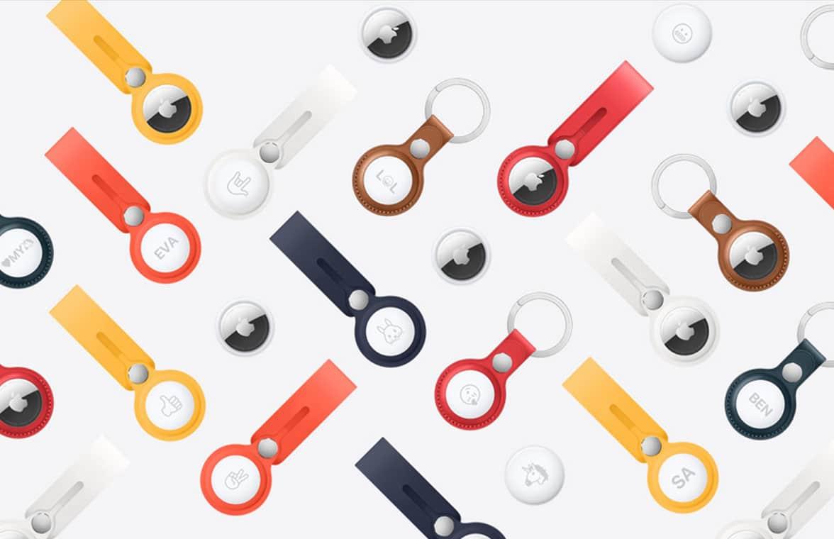 Apple AirTags on key rings