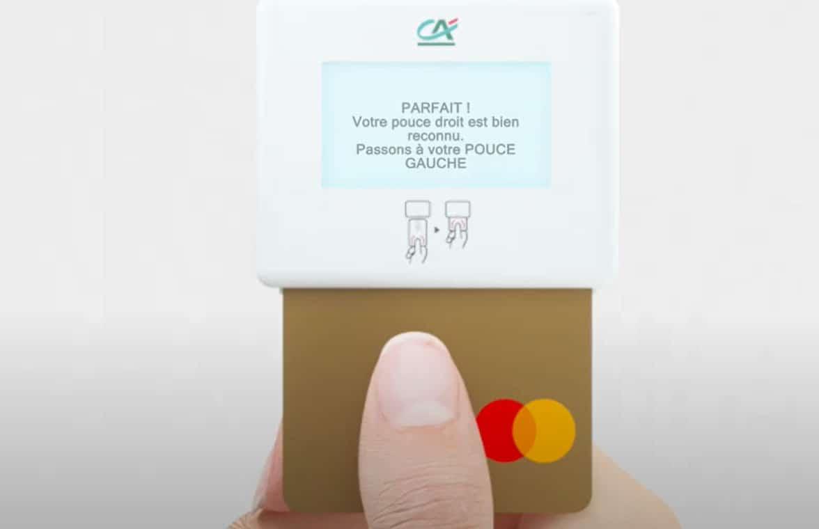 Crédit Agricole issues biometric payment card fingerprint registration