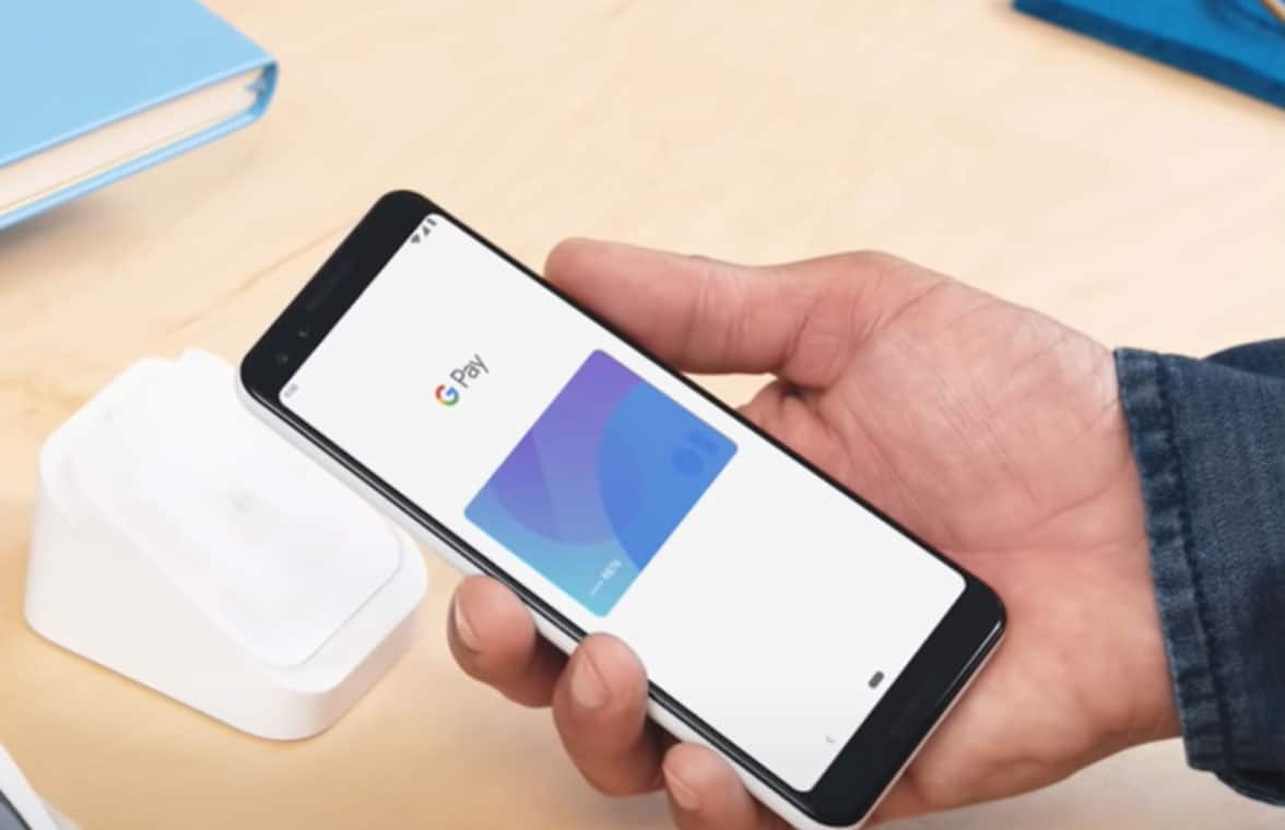 Google Pay logo on smartphone