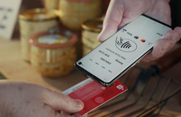 German savings banks' Sparkasse contactless card acceptance payment app