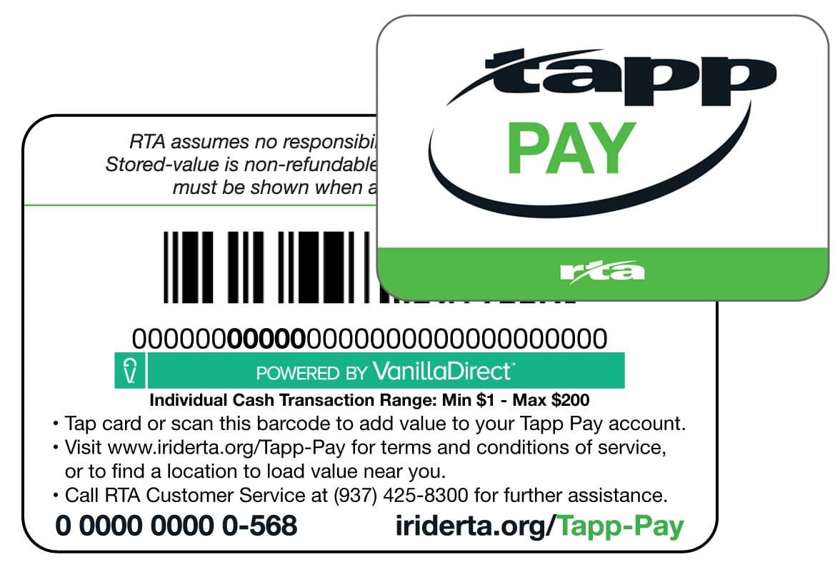 Dayton RTA Tapp Pay smartcard