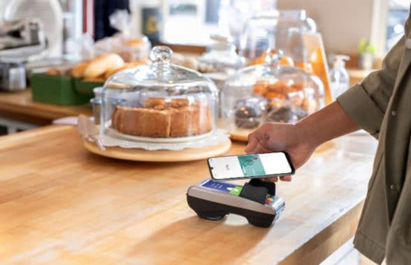Google Pay app on ABN Ambro mobile banking app