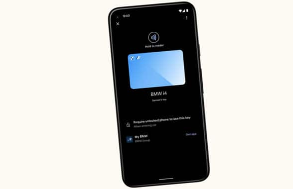 Android 12 NFC and UWB digital key on smartphone