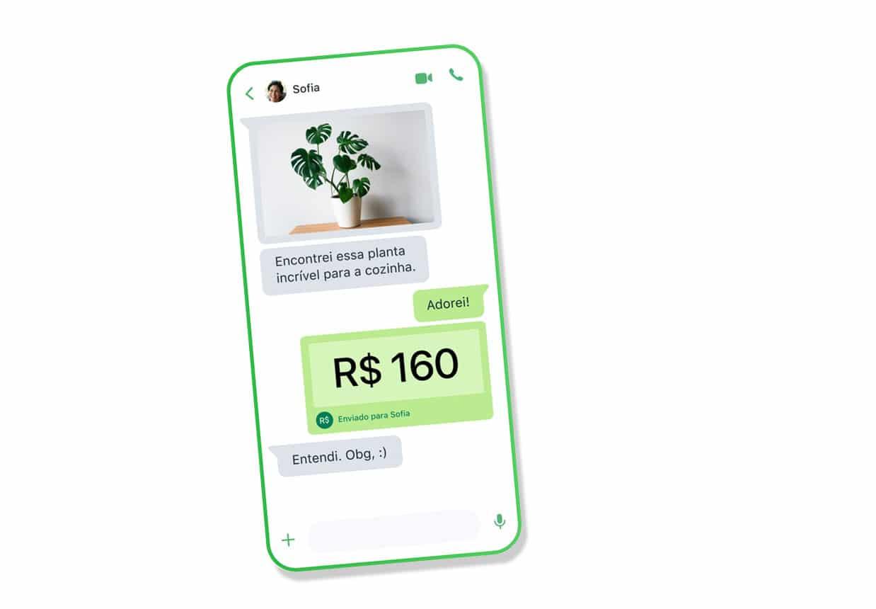Facebook WhatsApp peer to peer payments on phone Brazil