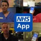 NHS app on smartphones