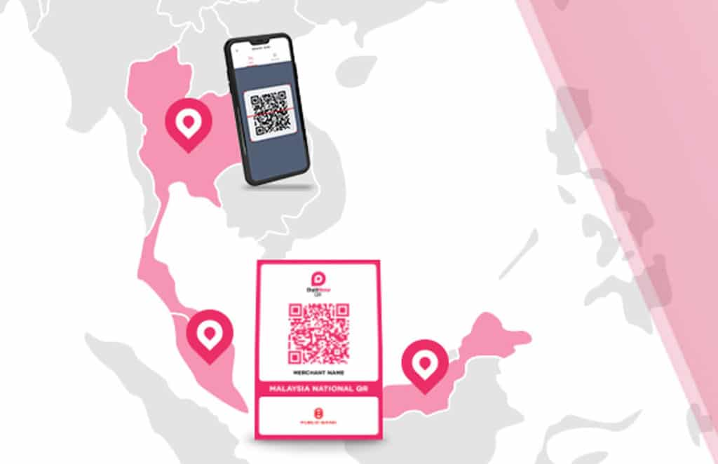 Duitnow cross-border real-time QR code payments slide