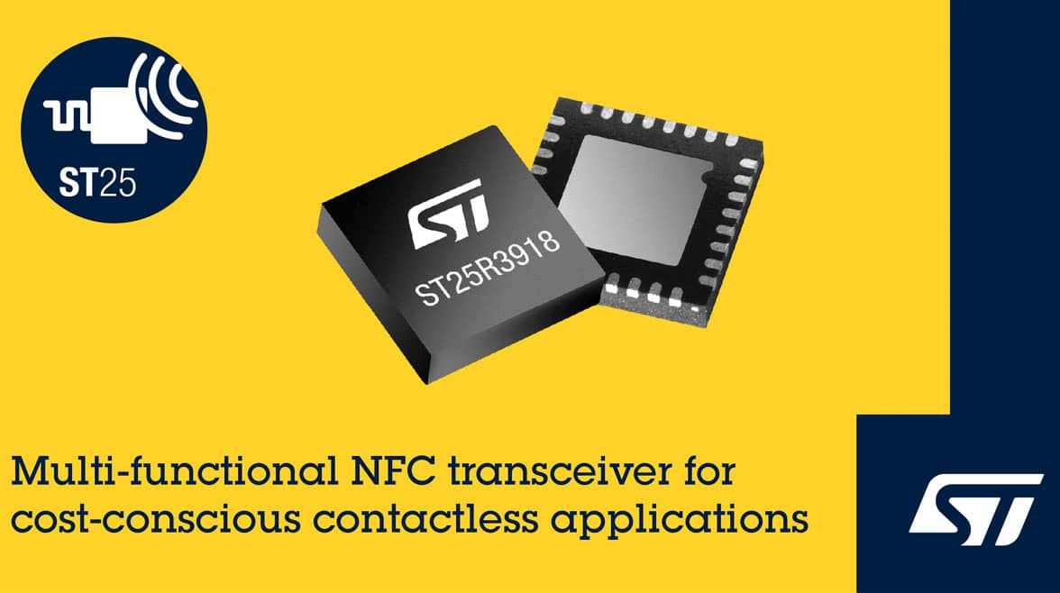 ST ST25R3918 transceiver illo