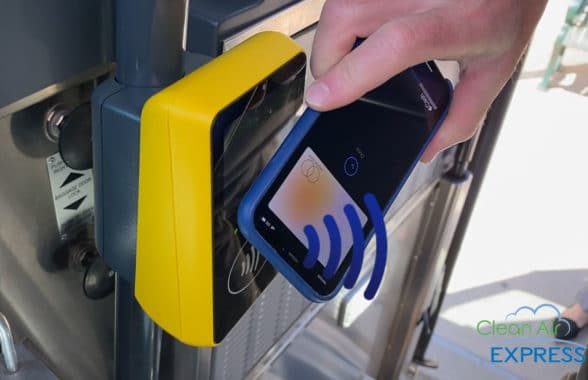 Clean Air Express contactless open loop payment