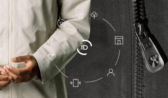 NFC zipper on Houdini parka