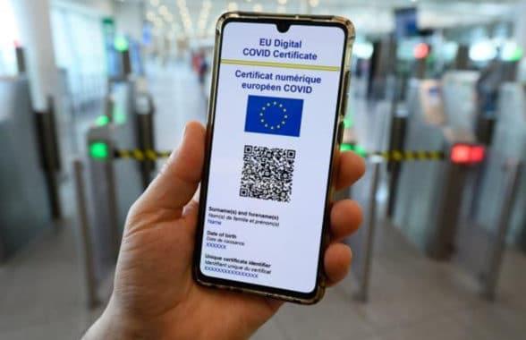 EU Digital Covid Certificate on smartphone