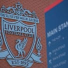 Liverpool Football Club sign outside Anfield Stadium