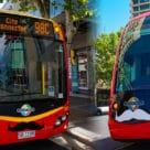 Adelaide Metro bus and train