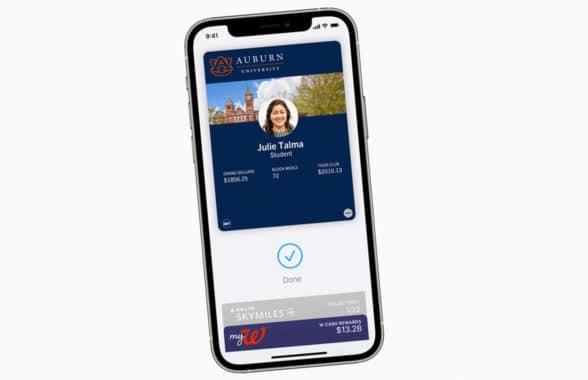 Apple Wallet NFC student ID