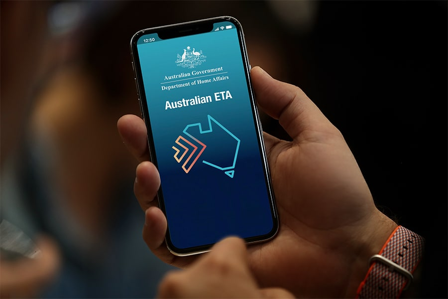 Australia's digital visa app lets travellers prove their identity by scanning their passport with an NFC phone.