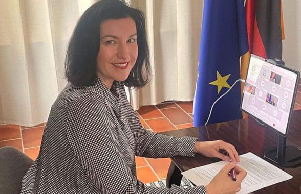 German minister for digitisation Dorothee Baerrr