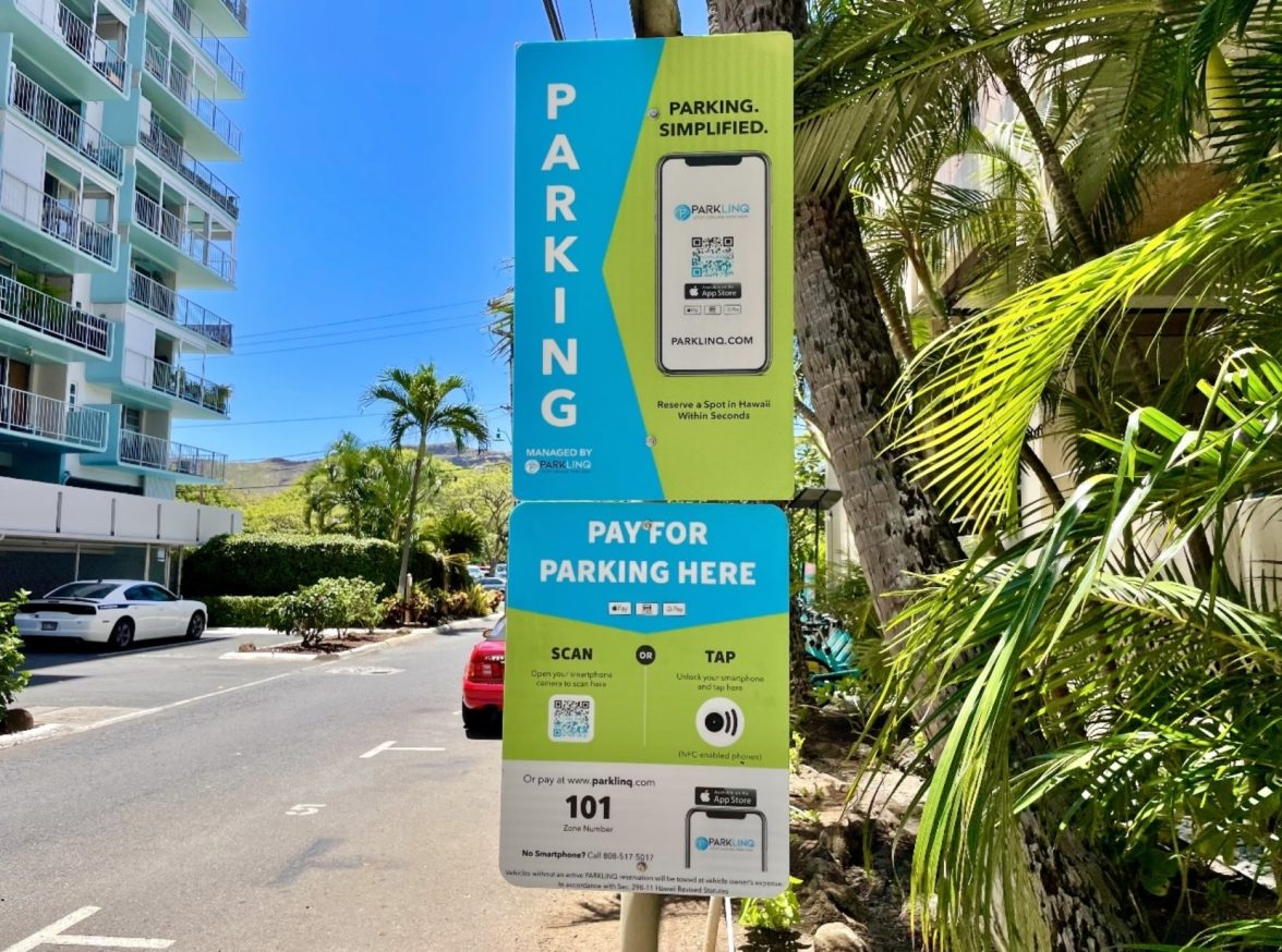 An on-site 'smart station' allows motorists to tap in to pay for their parking