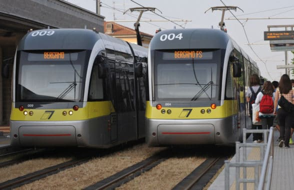 Tramvie trams in Bergamo with account-based contactless ticketing