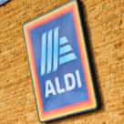 Aldi logo on building