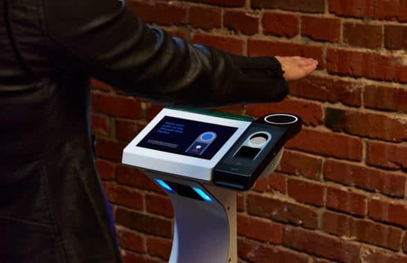 Amazon One palm recognition device at US entertainment venue