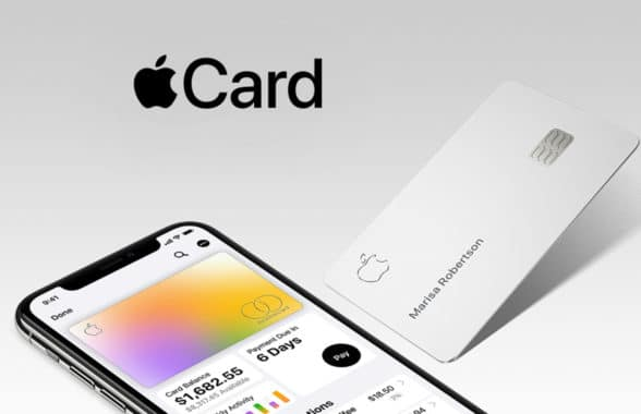 Apple Card on smart phone and physical card