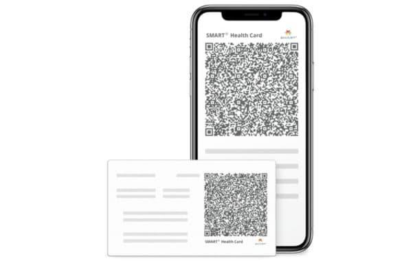 Smart Health Card QR code for Covid-19 vaccine records