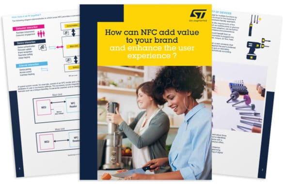 Front cover of ST Microelectronics White Paper on how NFC can add value to your brand