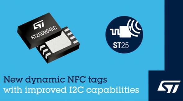 ST Type 5 dymamic NFC tags advert
